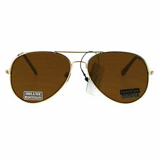 Air Force Mens Color Mirrored Flat Panel Lens Wire Rim Aviator Sunglasses