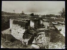 Glass Magic Lantern Slide HADRIANS WALL CHESTERS BATH HOUSE FROM S C1930 FORT
