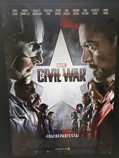 Captain America Civil War Poster originale ITA 70x100 cm NON PIEGATO