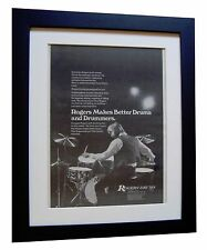 ROGERS DRUMS+USA+POSTER+AD+RARE ORIGINAL VINTAGE 1973+FRAMED+EXPRESS GLOBAL SHIP