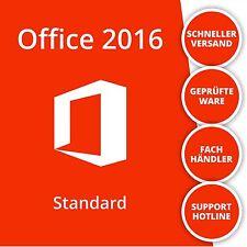 Microsoft Office 2016 Standard Vollversion | Deutsch | 32/64 Bit | 1PC