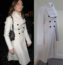 REISS Olivia Coat Winter White Ivory Cream Size Small UK 10 US 6 ASO