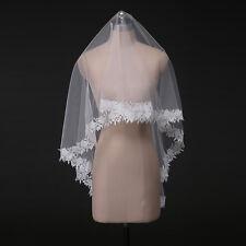 New lace edge Wedding Veils Ivory 2T Bridal Veil Wedding dress