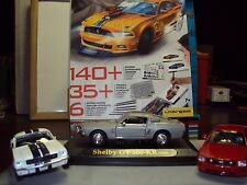 3 x FORD SHELBY MUSTANG 1:43 inc ELEANOR GT500 DAGOSTINI + SKETCHBOOK & PENCILS