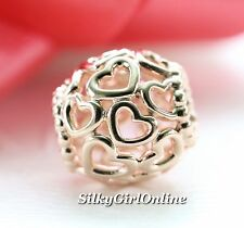 Authentic Pandora Rose Gold Charm Collection Open Your Heart Bead 780964 Retired