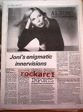 JONI MITCHELL Don Juan's Reckless Daughter review 1977 UK ARTICLE / clipping