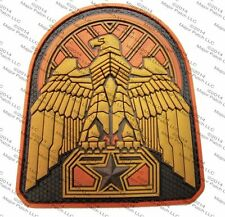 INDUSTRIAL EAGLE 3D PVC BADGE MORALE MILITARY ARID BRONZE HOOK & LOOP PATCH