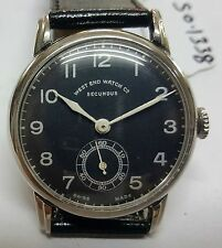 VINTAGE SWISS MADE WEST END WATCH CO, SECONDUS SUB SECOND WINDING WATCH SO-1338