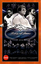 2014 Denver Broncos Ring Of Fame 11x17 Promo Poster w Dan Reeves & Rick Upchurch