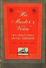HIS MASTER'S VOICE HMV RECORD CATALOGUE international special catalogue 1952