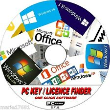 FIND YOUR PC SOFTWARE LICENCE KEYS WINDOWS XP VISTA 7 8 & 10 + ALL OFFICE NEW CD