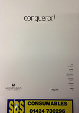 50 A4 SHEETS OF CONQUEROR HIGH WHITE LAID (TEXTURED) 100gsm PAPER