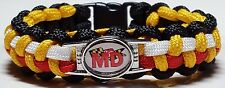 "State of Maryland Flag Waving Behind ""MD"" Maryland Handmade Paracord Bracelet"