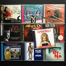 10x HARKIT Film Soundtrack OST CDs Crombie Godzilla Barbarella Penthouse Dr No