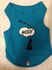 "Bailey and Bella Dog Blue Tee Shirt ""you had me at woof"" 100% cotton Size - S"