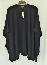 Pendleton Lambs Wool Cape One Size Plus Black $209 New