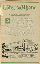 ADVERTISEMENT 4 Page Article Vineyard Wine Cotes du Rhone by Baron Boiseaumarie