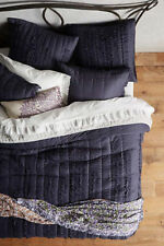 Anthropologie Draped Wisteria Queen Quilt with 2 Standard Shams