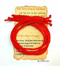 5 pcs Kabbalah Red String Bracelet Evil Eye Protection 9 inch with Prayer Card