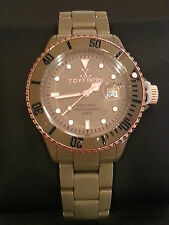 ToyWatch HY03DG Ceramic Rose Accent & Brown Case w/Yellow Inner Strap Watch NEW!