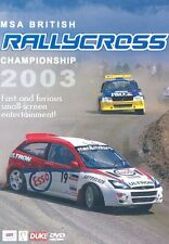 BRITISH RALLYCROSS REVIEW 2003 - DVD - REGION 2 UK