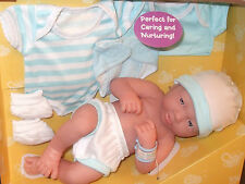 "BERENGUER LA NEWBORN 14"" BABY BOY DOLL +  CLOTHES ANATOMICALLY CORRECT"
