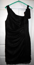 White By Vera Wang Wedding Dress Holiday Party Cocktail black Color Size 10