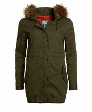 New Womens Superdry Unique Sample Rookie Quilt Lined Parka Size Small