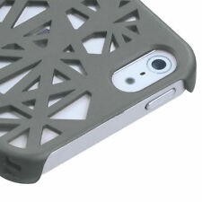 For Apple iPhone 5 5S SE Rubberized Bird Nest HARD Case Snap On Phone Cover Grey