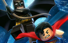 A4 LEGO MOVIE SUPERHEROES POSTER PRINT WALL ART - BATMAN/SUPERMAN