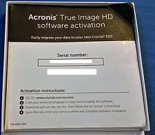 Acronis True Image HD software di backup CODICE di licenza di attivazione