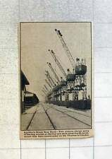 1921 London's Great New Dock 65 Acres On The Thames