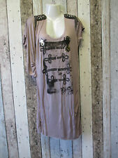 Ladies Rock & Revival Asymetric Sleeve Tunic Quail Size 14 (1838245 14)