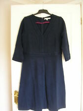 BODEN MERCER DRESS PONTE JERSEY NAVY BLUE UK 16 LONG, EUR 42-44, US 12 NIB WH543