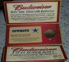 Budweiser NFL Super Bowl Champs Coin***DALLAS COWBOYS***from CANADA
