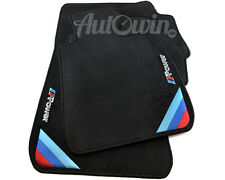BMW 3 Series E46 Sedan Black Floor Mats With ///M Power Clips RHD UK Model