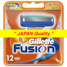 "New Gillette Fusion Razor Blade 12 Counts from ""JAPAN Quality"" Free Shipping"