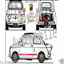 Fiat Abarth 695 esse-esse    (affiche / décoration automobile)