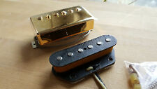 Dawgtown Hand Crafted USA Gold Fat Tele Telecaster Hand Wound Pickups AlNiCo 5