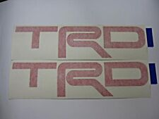 2PC TOYOTA HILUX VIGO 2012 RED TRD GENUINE STICKER FROM TOYOTA