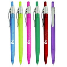 500 Custom Printed Translucent Plastic Click Pen with Silver Clip  Free Shipping