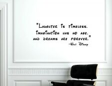 Laughter is timeless, Walt Disney Vinyl wall decals quotes sayings words #1435