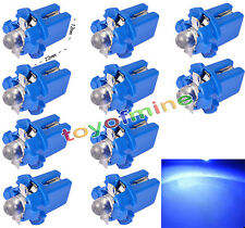 10 PC T5 Gauge coche LED Speedo Dashboard Dash cuña lateral Bombilla Azul