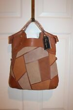 NEW! NWT! FOLEY + CORRINA Patchwork Lady Tote Suede Leather Hobo Bag $348