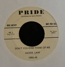 Jackie Law PRIDE 1002 I Can't Give You Anything But Love and Don't You Ever
