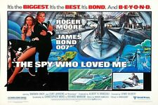 "JAMES BOND - THE SPY WHO LOVED ME - MOVIE POSTER 18"" X 12""  - ROGER MOORE"