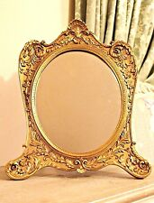 Large Gold French Style Wings Ornate Rococo Louis Stand Dressing Table Mirror