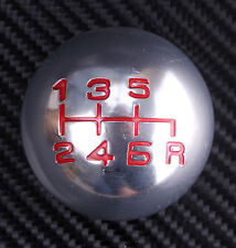 Gear Knob M10x1.5 Shift Aluminium JDM Round Shifter 6 Speed Pattern Silver