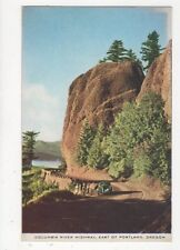 Columbia River Highway East of Portland Oregon USA Old Postcard 387a