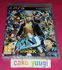 PERSONA 4 ARENA ULTIMAX SONY PS3 NEUF SOUS BLISTER VERSION FR TEXTE EN ANGLAIS